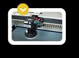Cámara de reconocimiento de la máquina láser co2